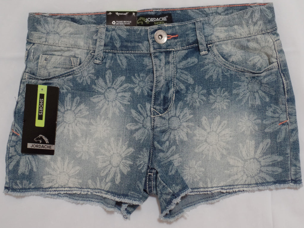 Jordache Denim Shorts (Adj Waist)-81% Cotton, 18% Polyester, 1% Spandex: 12