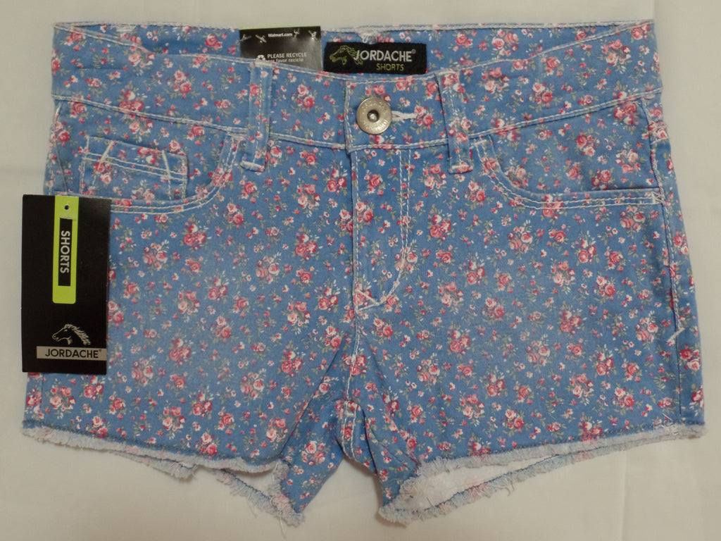 Jordache Denim Shorts (Adj Waist) 98% Cotton, 2% Spandex: 7
