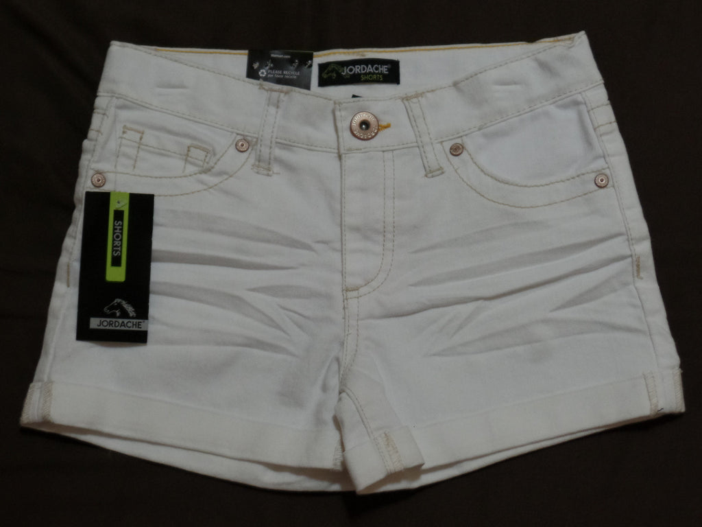 Jordache Denim Shorts (Adj Waist) 63% Cotton, 36% Polyester, 1% Spandex: 10