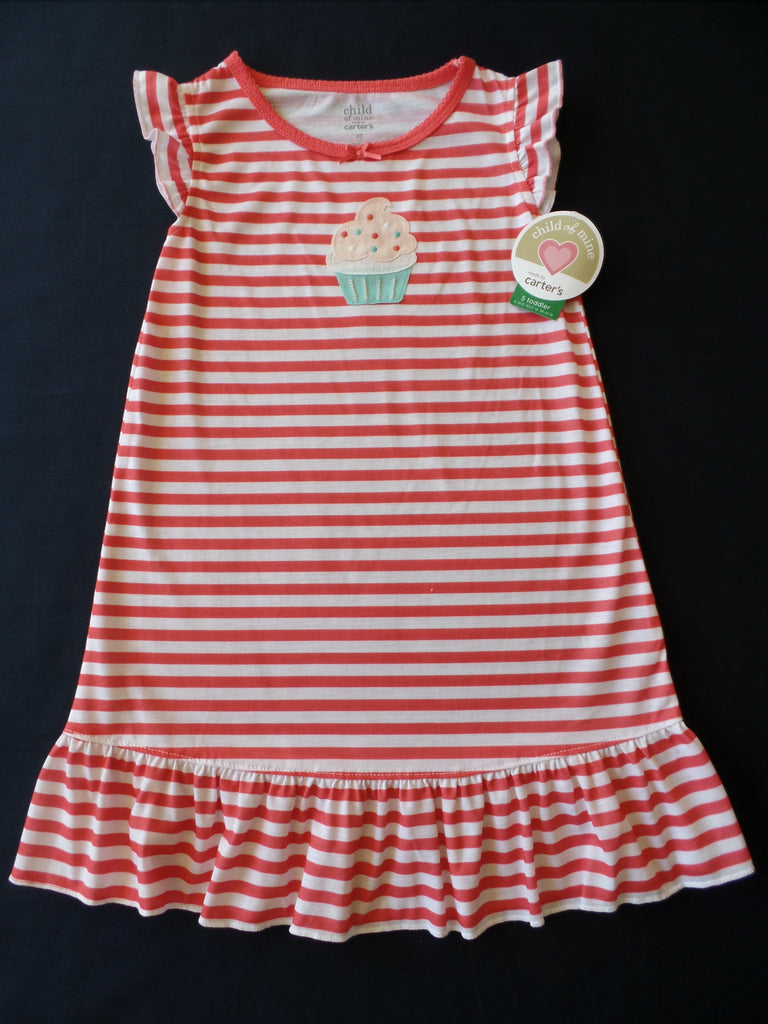 Carter Child of Mine Nightgown (Cupcake) - 100% Polyester: Sizes - 18M, 2T, 3T, 4T, 5T