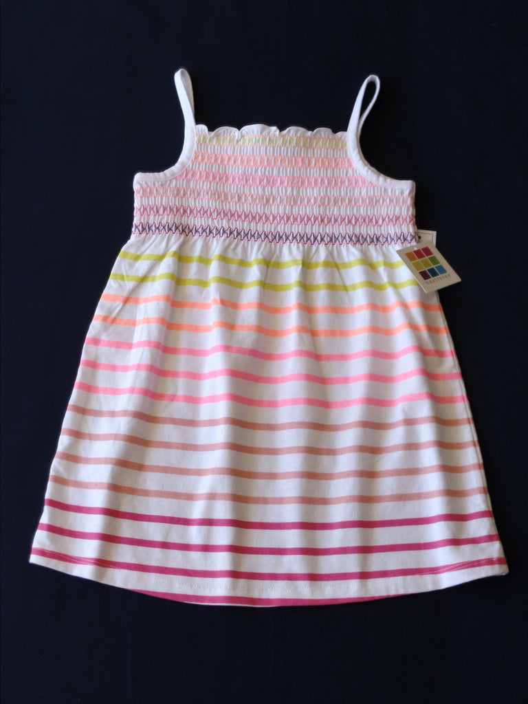 Striped Smocktop Dress - 100% Cotton: Size 3 T
