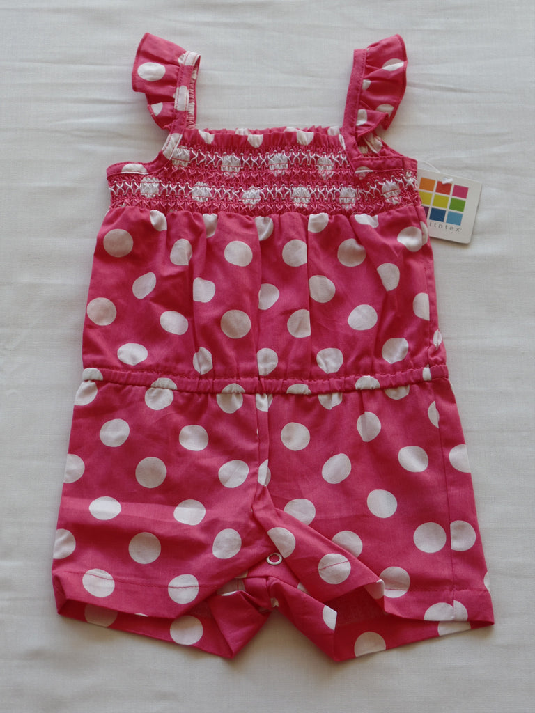 Girls Woven Romper - 100% Cotton: Size 12 M