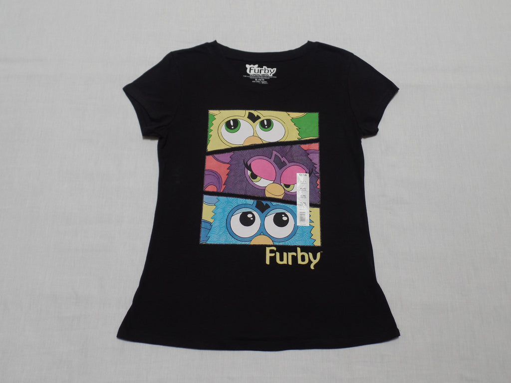 Girls Furby S/S Tee - 60% Cotton, 40% Polyester: Size XL 15-17