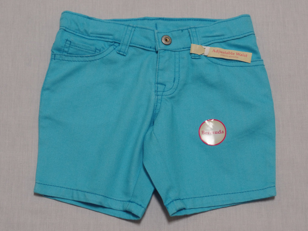 Girls FG Twill Bermuda Shorts - 77% Cotton, 23% Polyester: Sizes 5, 6, 7, 8, 12,16