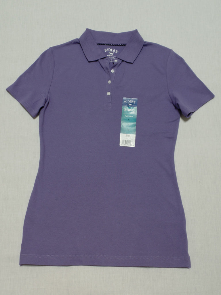 Riders Lee Fade Free Ultimate Polo Shirt - 97% Cotton, 3% Spandex: Size S