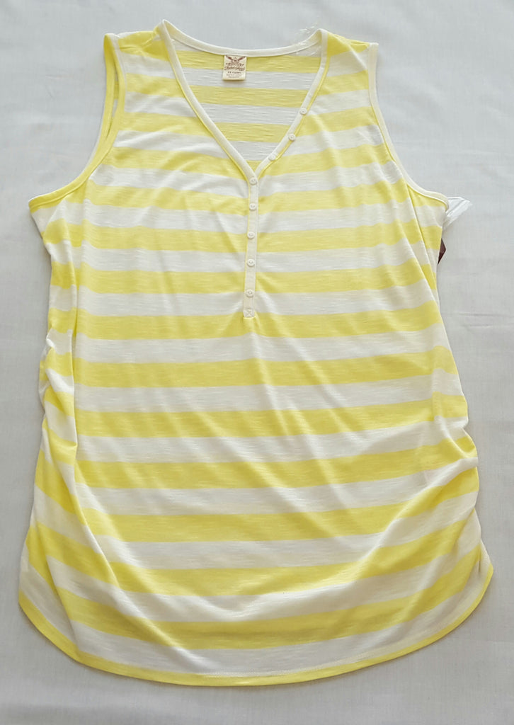 Womens Shirred Henley Tank  -  65% Polyester 35% Rayon: Size 1X-16W