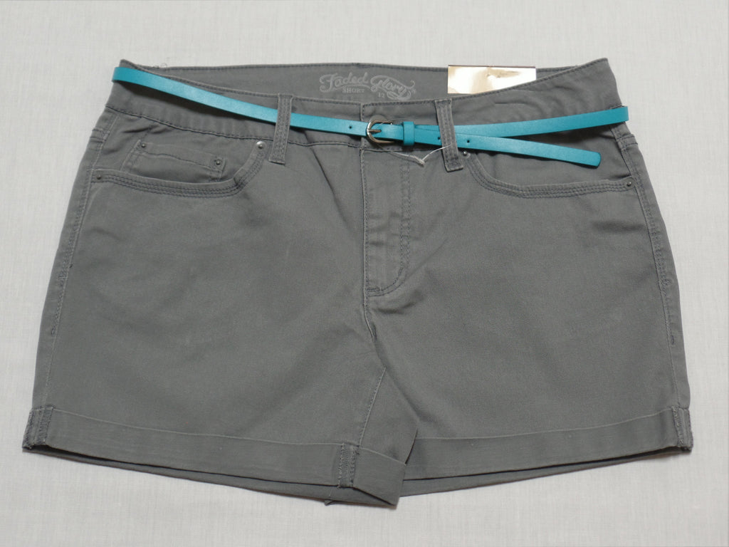 FG 4.5' Core Shorts with Aqua Belt - 98% Cotton 2% Spandex: Sizes 10, 12, 16, 18