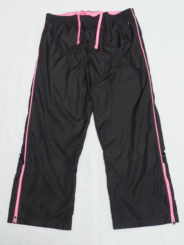 "Ladies Woven Track Pant Loose Fit, 5'3"" & Shorter - 100% Polyester: Size XL16-18"