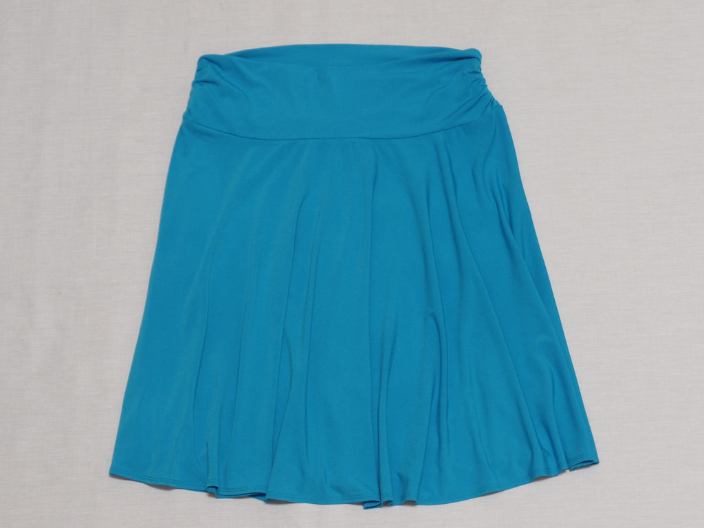 Side Rouched Skirt - 95% Polyester, 5% Spandex: Sizes L, XL