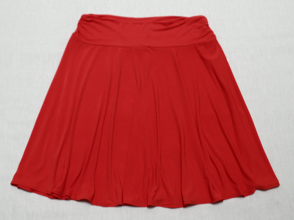 Side Rouched Skirt - 95% Polyester, 5% Spandex: XL 16-18