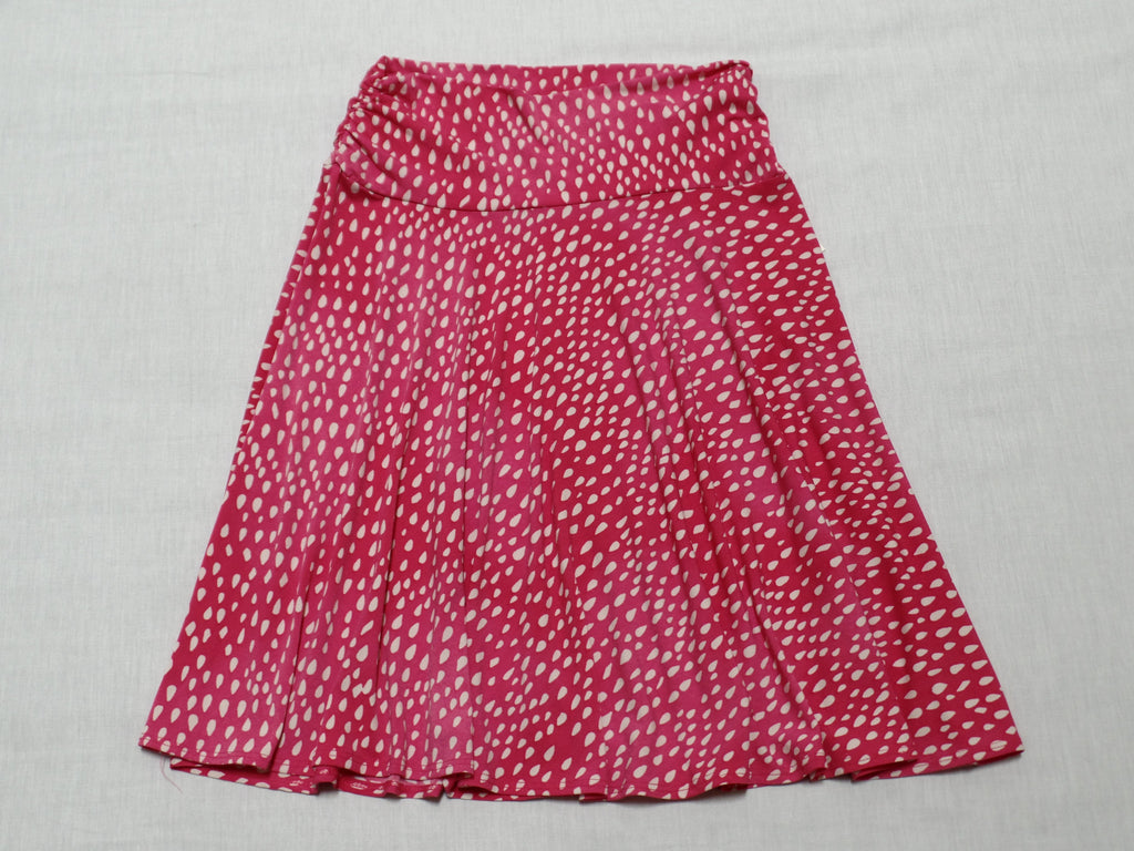 Side Rouched Skirt - 95% Polyester, 5% Spandex: Size S 4-6
