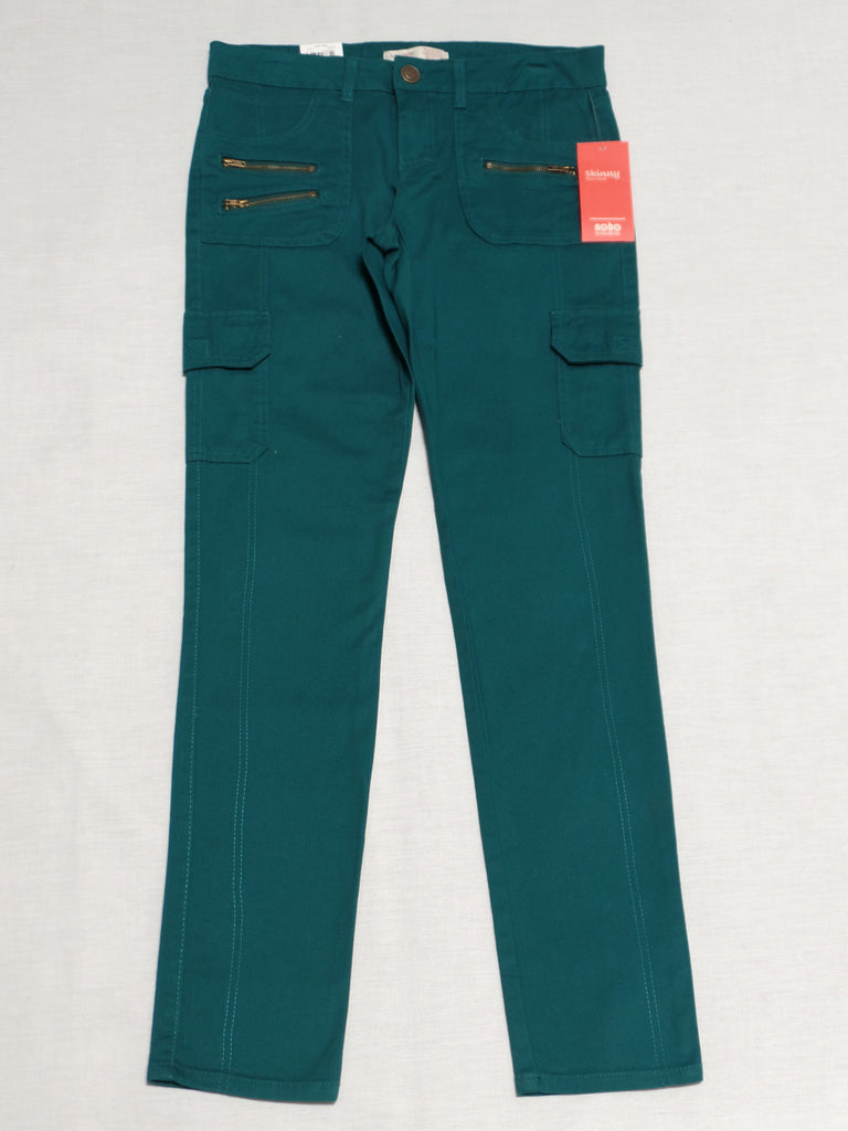 NB Skinny Cargo Jeans Long - 96% Cotton, 4% Spandex: Size 9