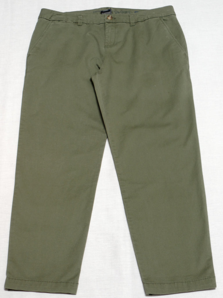 FG Chino Stretch Fabric Pants, Petite (Long) 98% cotton, 2% spandex: Size 14P