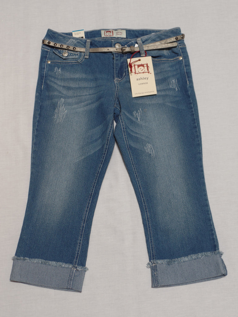 Juniors L.E.I Lowrise Capri Jeans (Turn up)  -  Sizes 7, 9, 13