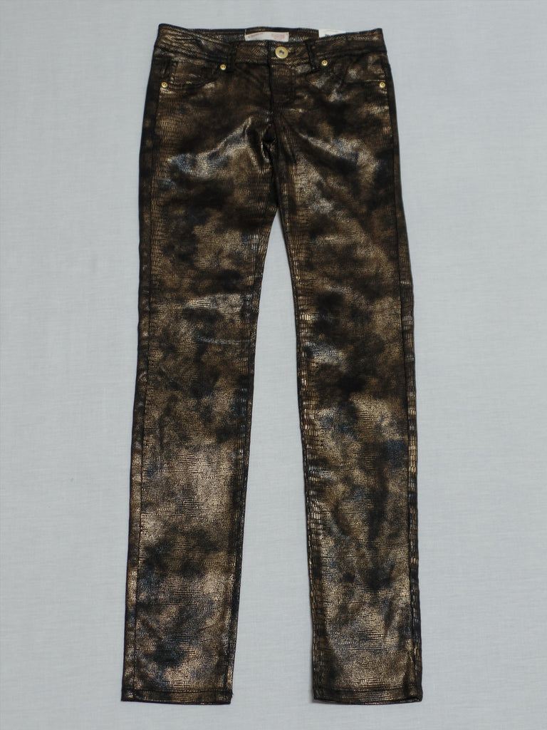 Juniors NB Reptile Skinny Long Pants - 65% Cotton, 32% Polyester, 3% Spandex: Size 1
