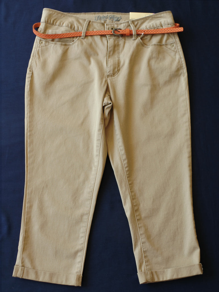 FG Cargo with Orange Belt -  98% Cotton, 2% Spandex: Size 12