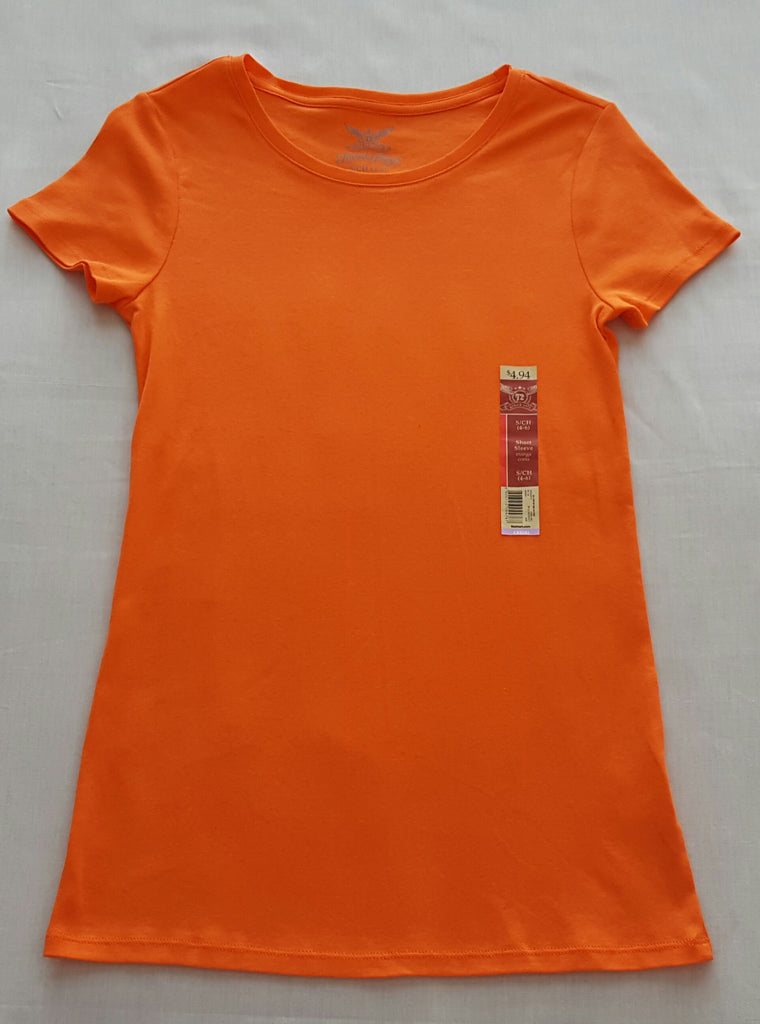 FG S/S Crew Neck Orange  Tee - 100% Cotton: Size S, M, L, XL, XXL