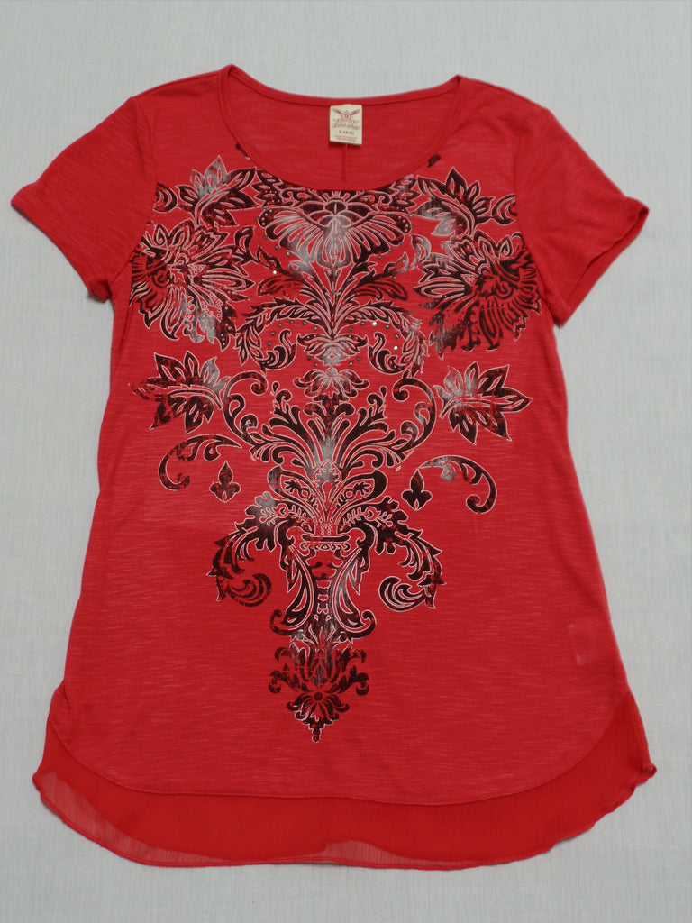 FG Graphic Fashion S/S Top - 100% Polyester: Size S 4-6