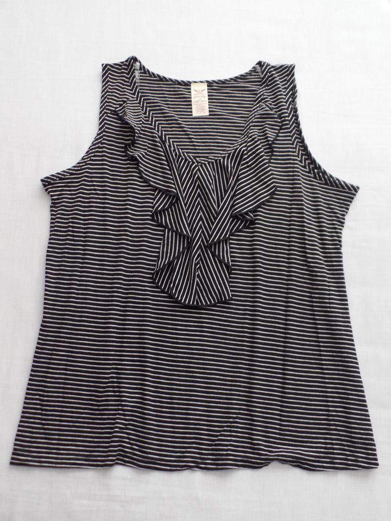 FG Sleeveless Top With Ruffle - 50% Polyester, 50% Rayon: Size 2X