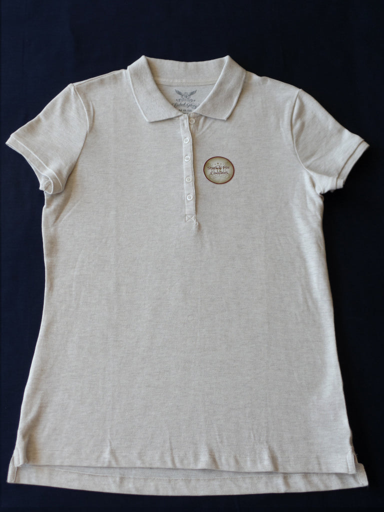 FG Polo Shirt with Front Buttons - 96% Cotton, 4% Spandex: Size M 8-10