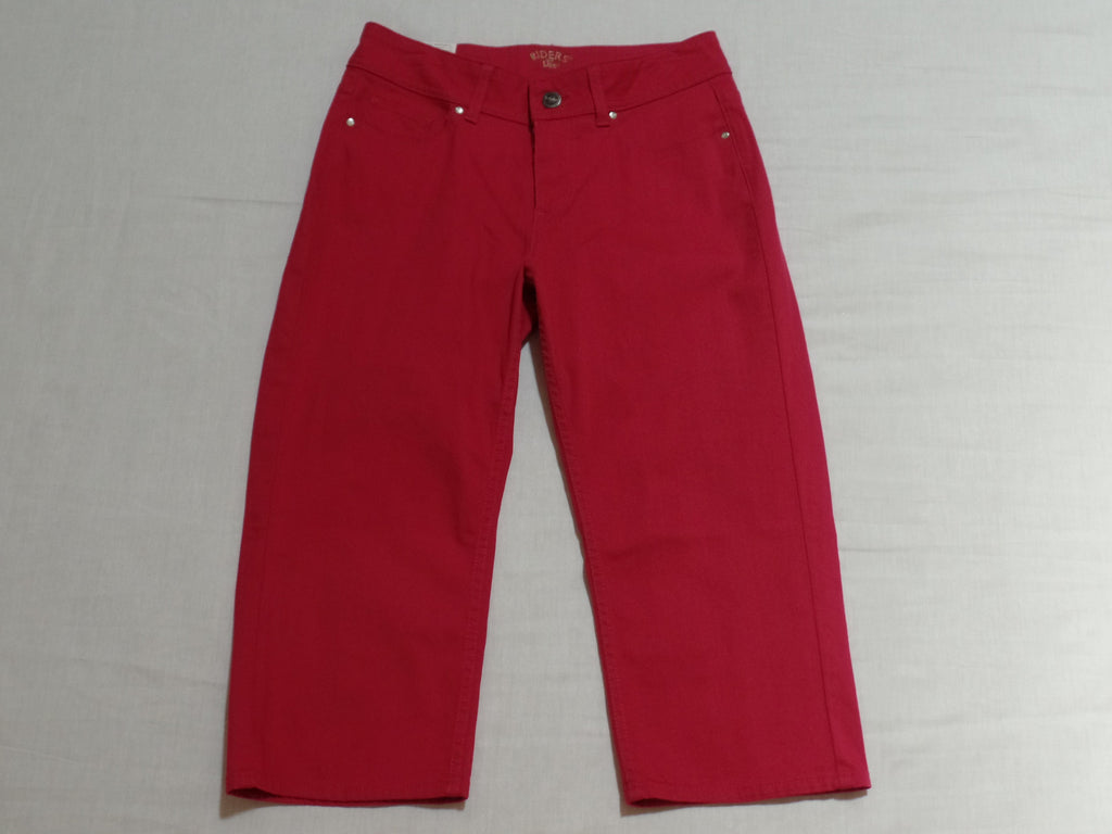 Riders Lee Slender Stretch Capri - 98% Cotton, 2% Spandex: Size 6 M