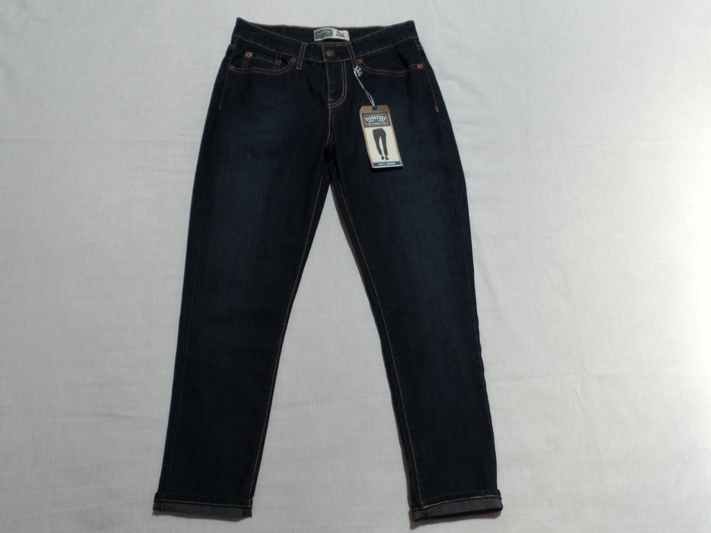 Signature by Levi's Ankle Mid Rise Skinny Jeans 81% Cotton, 17% Polyester, 2% Spandex: Sizes 4, 6