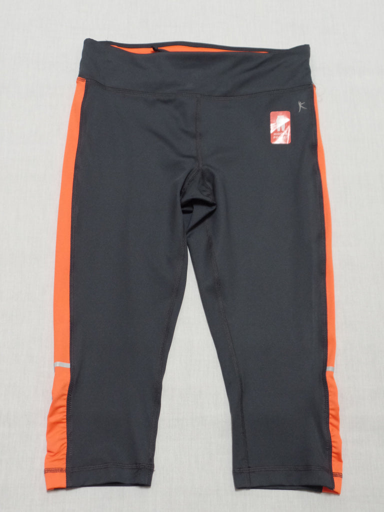 DN Capri W/Side Shirring-Active-Hidden Pocket 88% Polyester, 12% Spandex: Size S 4-6