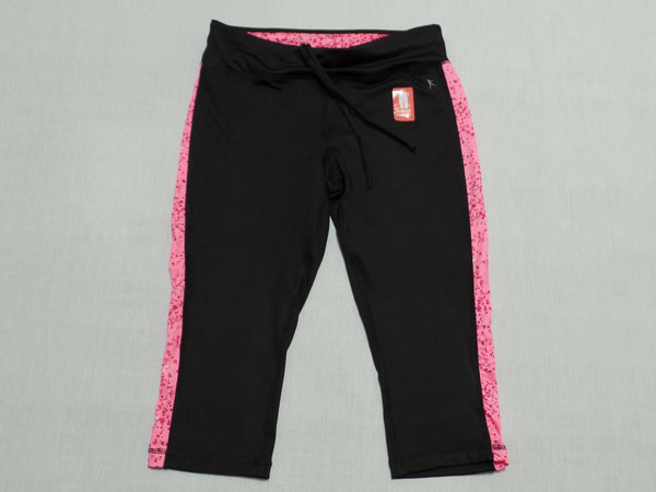 DN Capri W/Side Print-Active (Hidden Pocket) - 88% Polyester, 12% Spandex: Size S 4-6