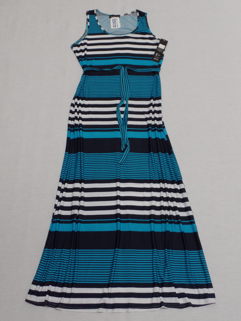 Strip Across Maxi Dress with Belt: Size XL