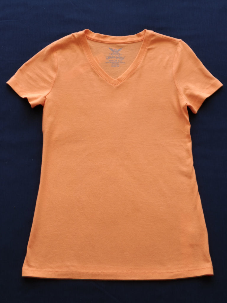 FG V-Neck Tee S/S (100% Cotton): Size XS 0-2