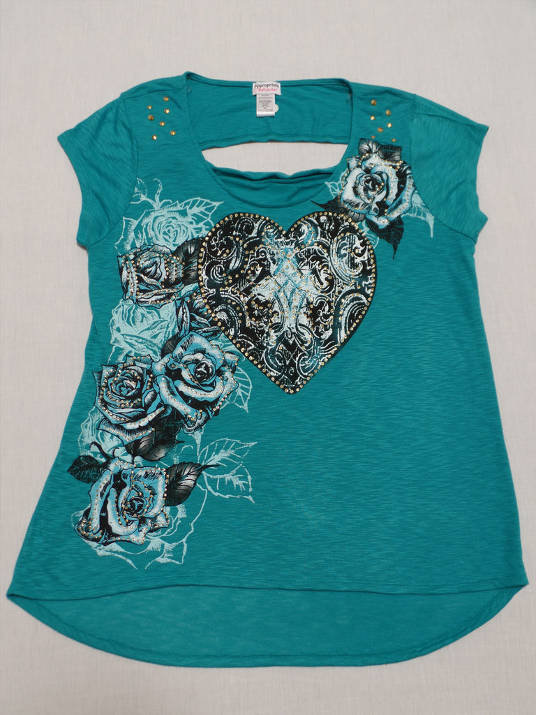 Juniors Top with Opening in Upper Back - 100% Polyester: Size XXL/2X