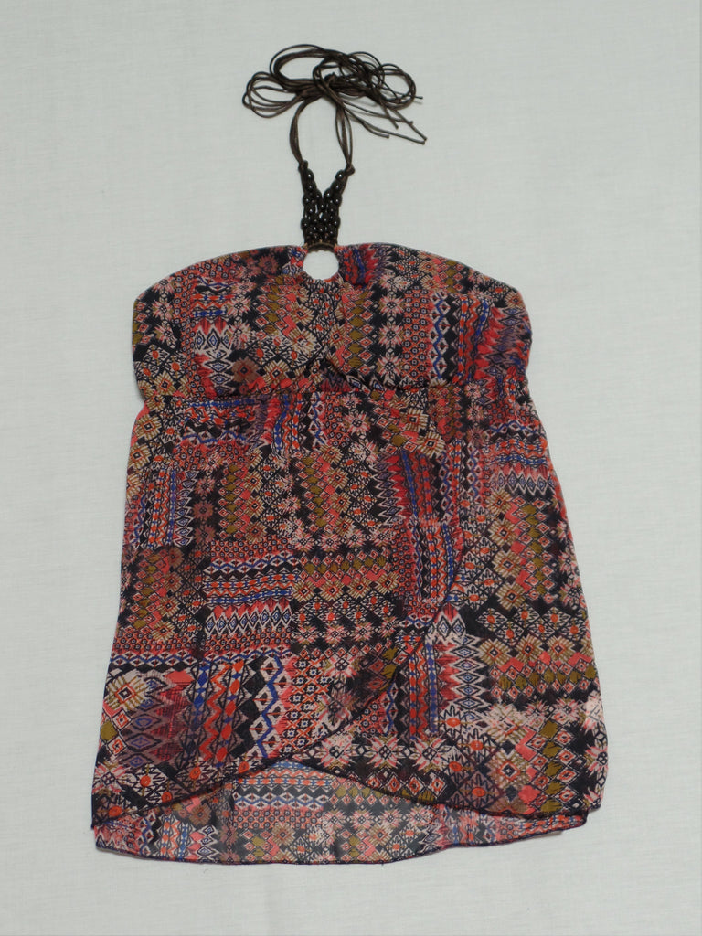 Halter with Bead Necklace - 100% Polyester: Size L 11-13