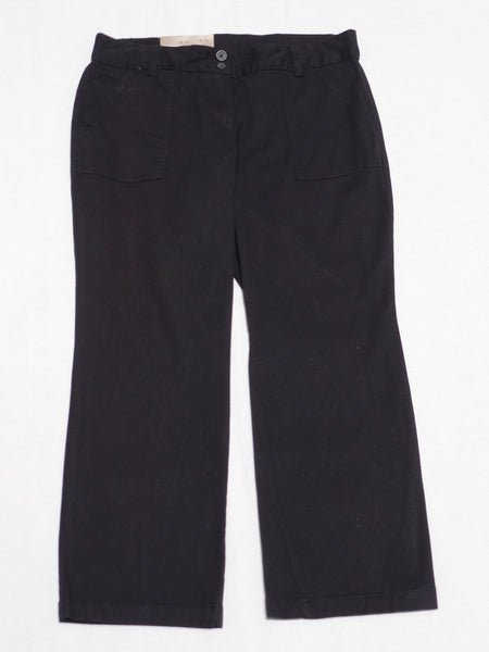 Comfort Fit Pocket Long Pants - 98% Cotton, 2% Spandex: Size 14 P