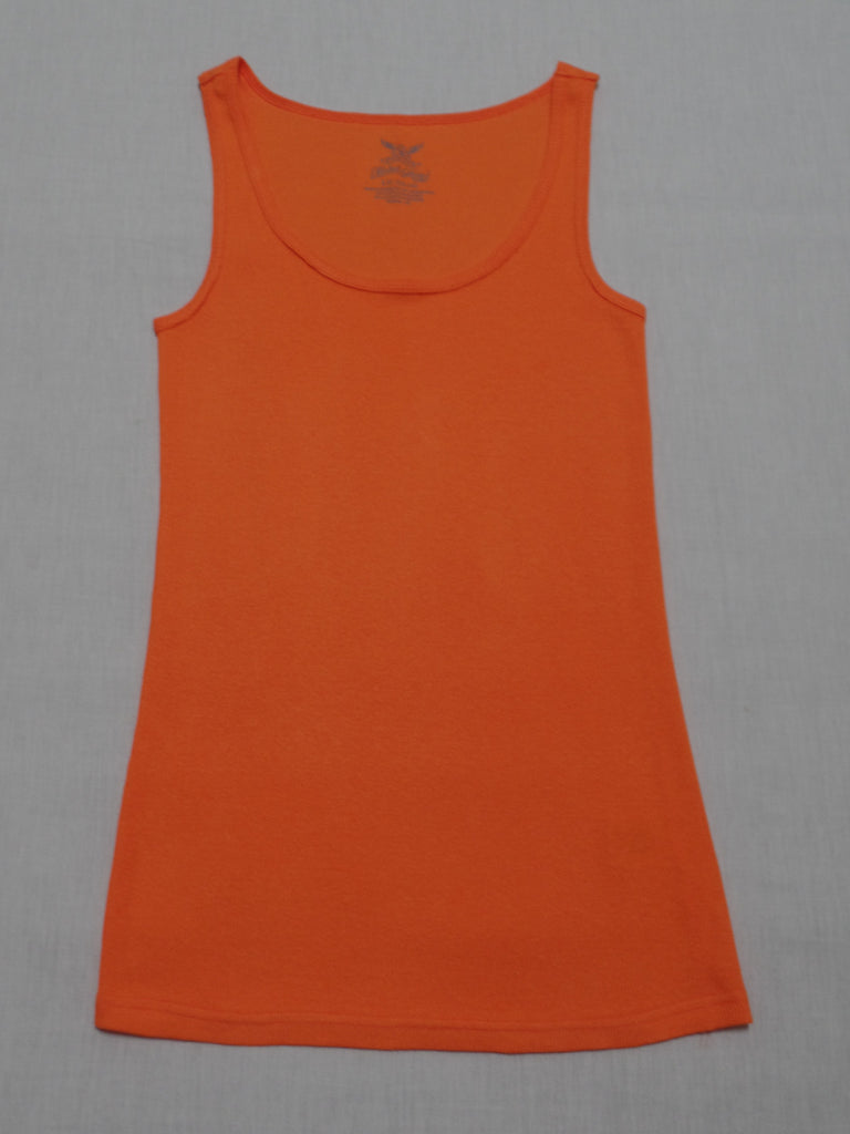 FG Orange Rib Tank  - 97% Cotton, 3% Spandex: Size L 12-14