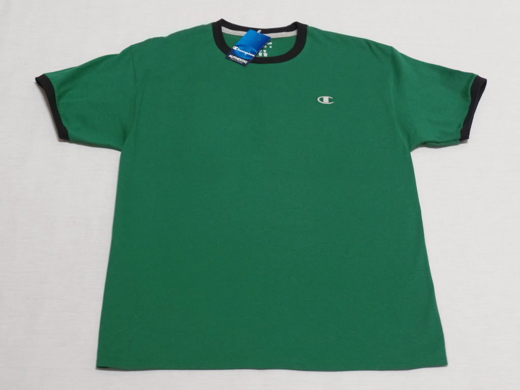 Champion Men Jersey Ringer Tee - 100% Cotton: Size L