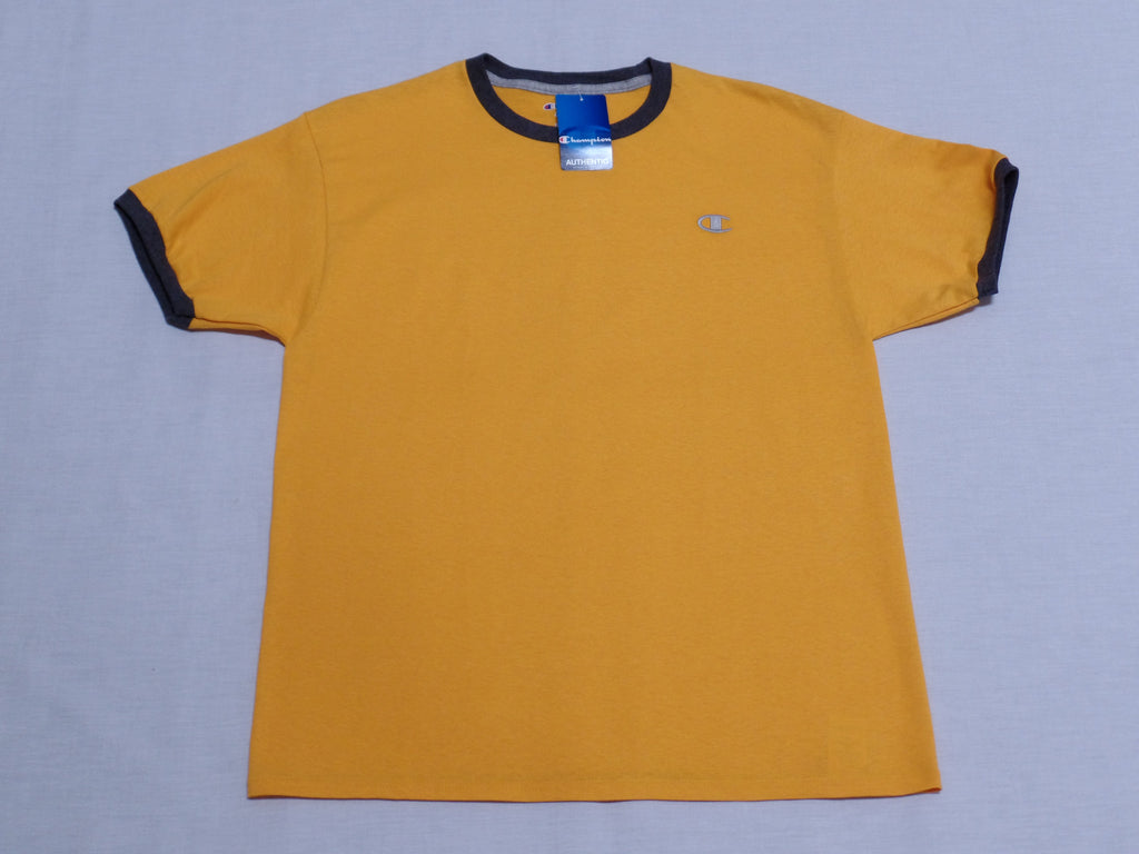 8d518f3a L Champion Men Jersey Ringer Tee - 100% Cotton - Team Gold/Grey – Ship To  Island