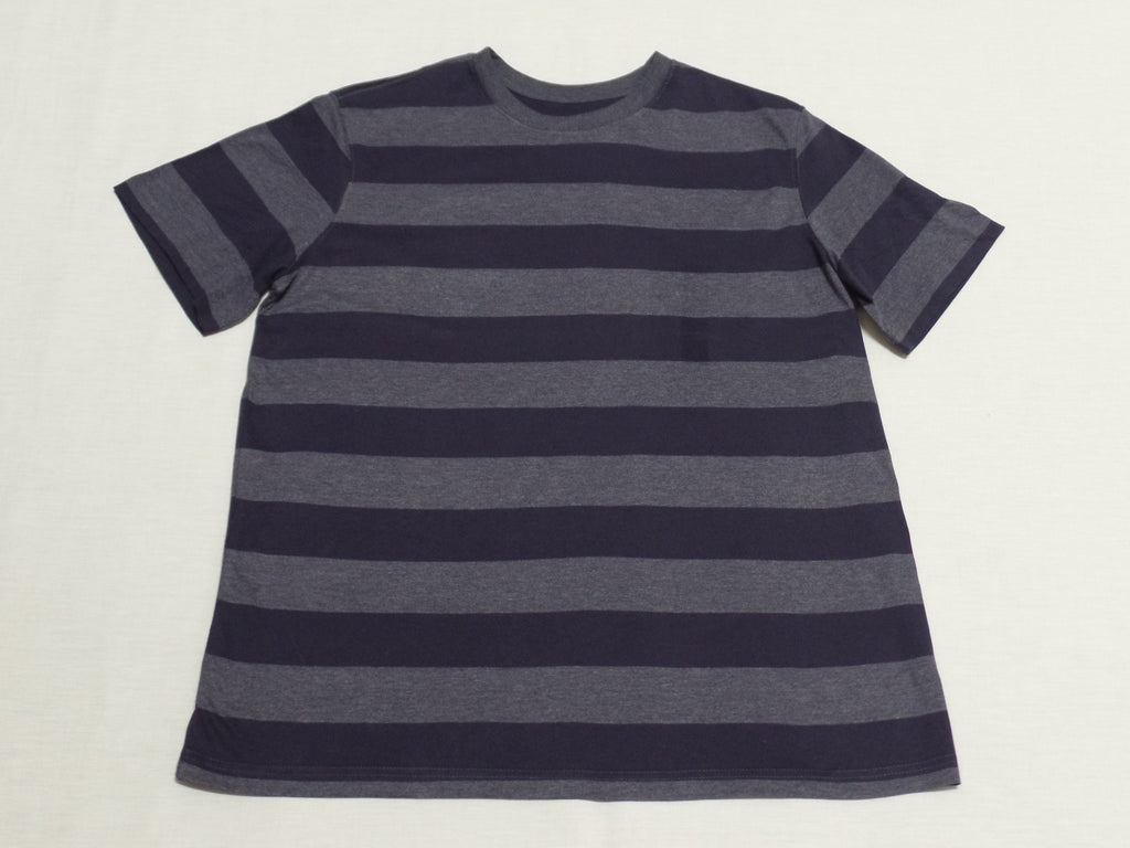 Mens OP S/S Stripe Crew Neck Tee - 80% Cotton, 20% Polyester: Size XL 46/48
