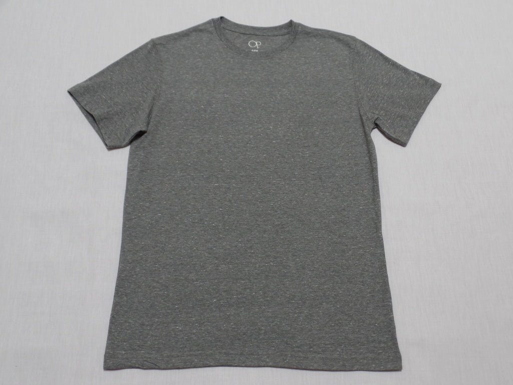 Mens OP S/S Solid Crew Neck Tee - 60% Cotton, 40% Polyester: Size S 34/36
