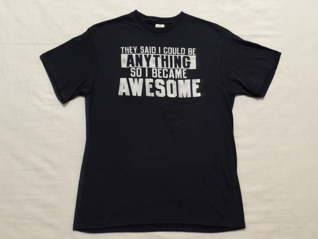 Men Became Awesome S/S T-Shirt - 100% Cotton: Sizes S, M, L, XL