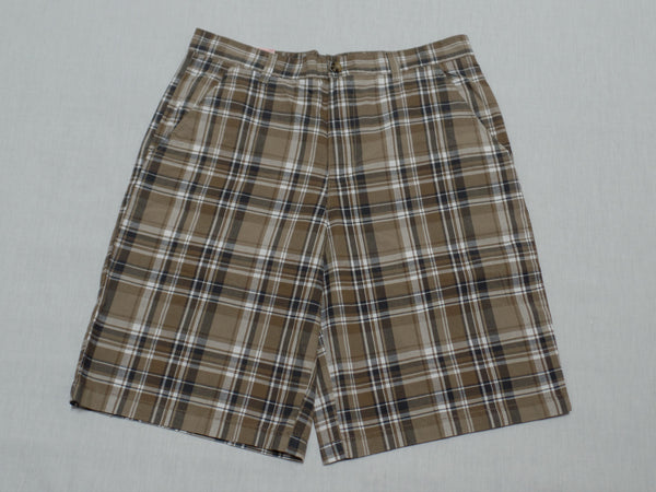 Men Covington Flat Front Short - 100% Cotton: Size 32
