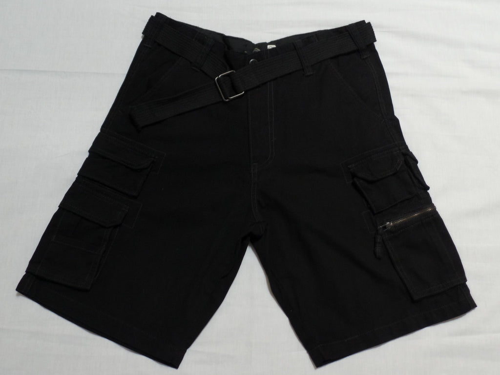 Men OP Cargo Jeans Short with belt - 100% Cotton: Size 34
