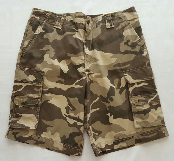 Men FG Ripstop Camo Cargo Short - 100% Cotton: Size 38