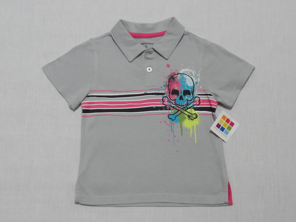 Boys Graphic Polo Shirt: 100% Cotton - Size 3T