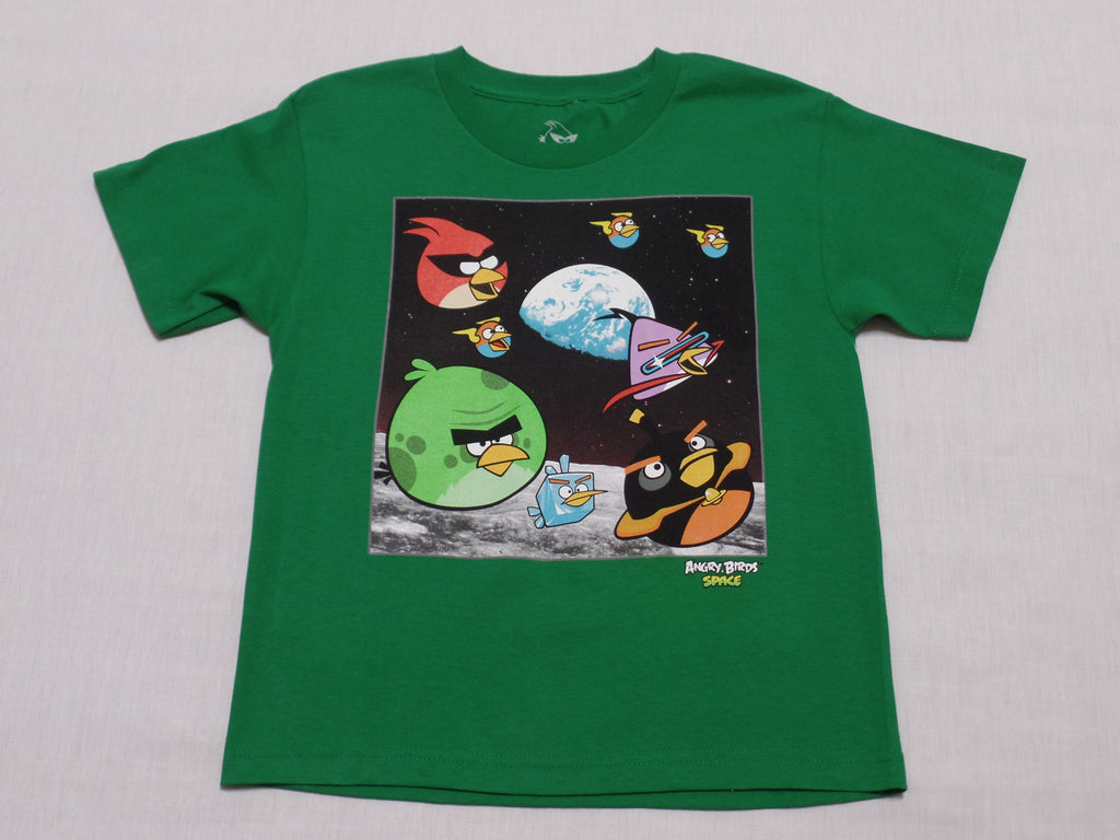 Boys Angry Birds Space S/S T-Shirt - 100% Cotton: Size L 10-12