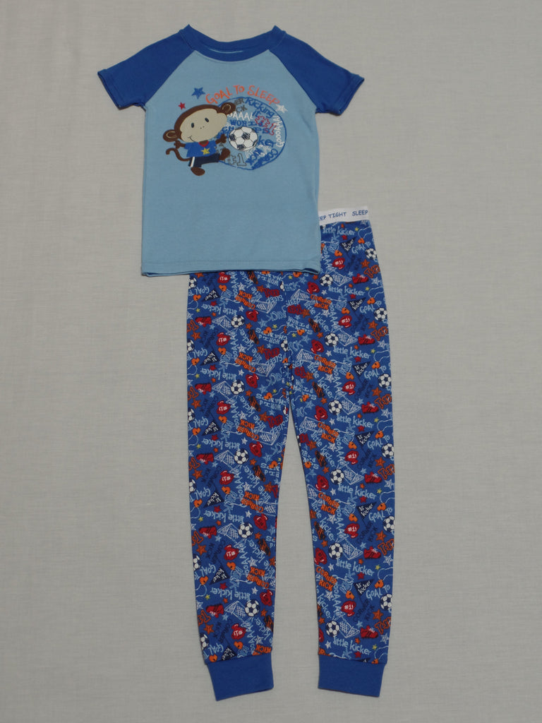 Toddler Boys FG S/S Pajama Long Pant Set - 100% Cotton: Size 4T