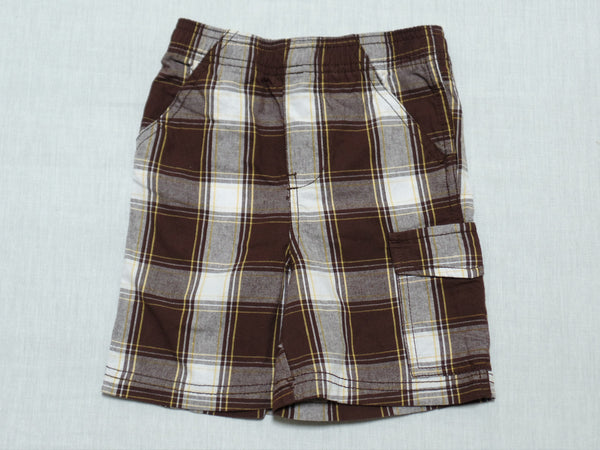 Boys Plaid Shorts - 100% Cotton: Sizes 24M, 4T