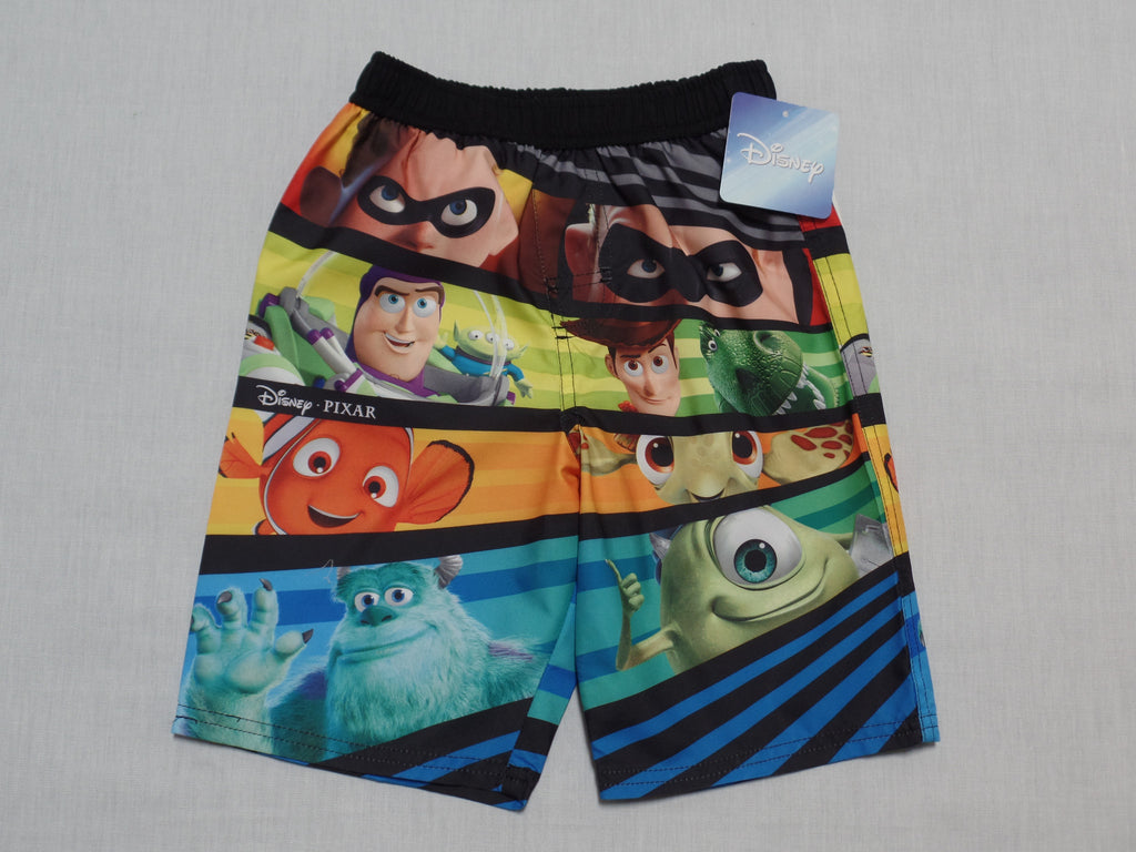 Boys Disney Pixar Swim Trunks - 100% Polyester: Size 5T
