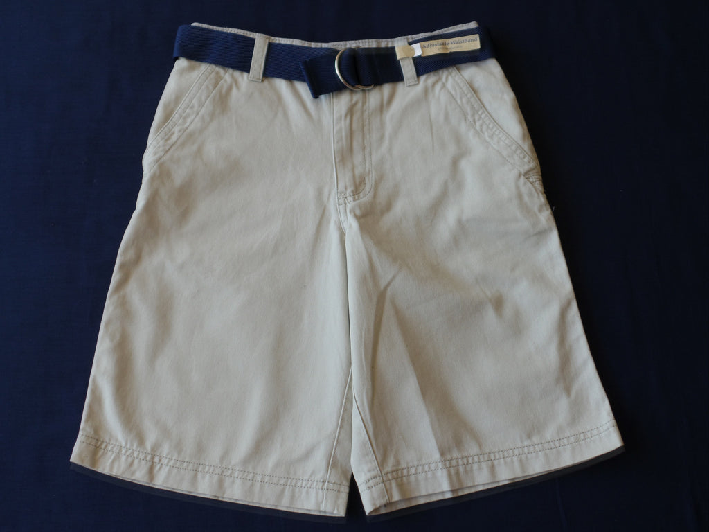 Boys FG Flat Front Shorts - 100% Cotton: Size 8