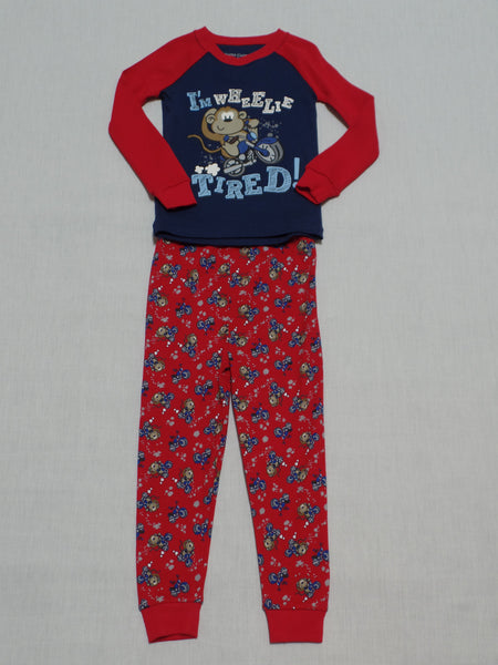 Boys FG Long Sleeve Pajama Set - 100% Cotton: Size 3T