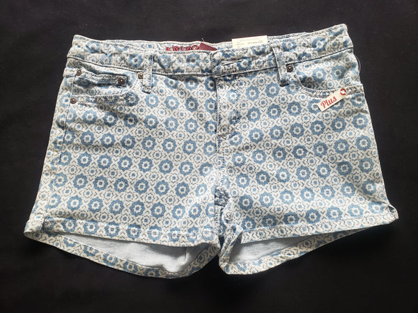 Girls Arizona Shortie shorts - Size 16 1/2 Plus with Adjustable Waist